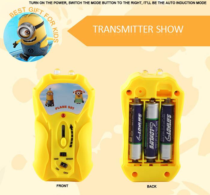 Для управления Миньоном с пульта понадобятся обычные пальчиковые батарейки типа ААА