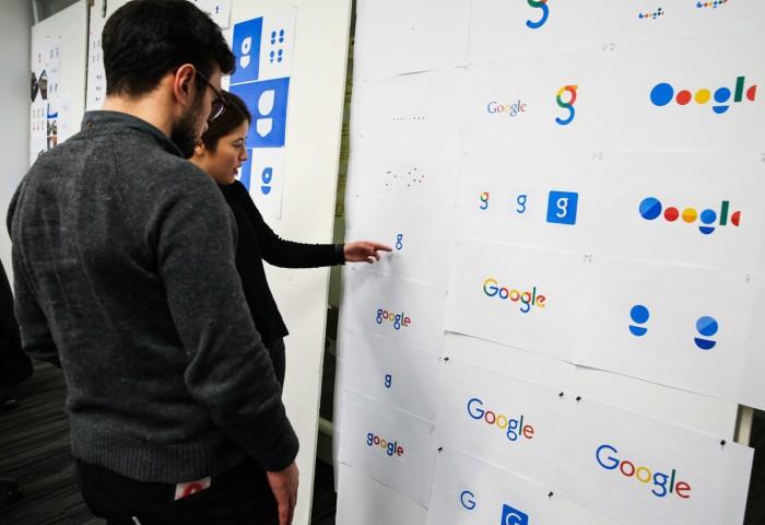 Несколько вариантов нового логотипа Гугл