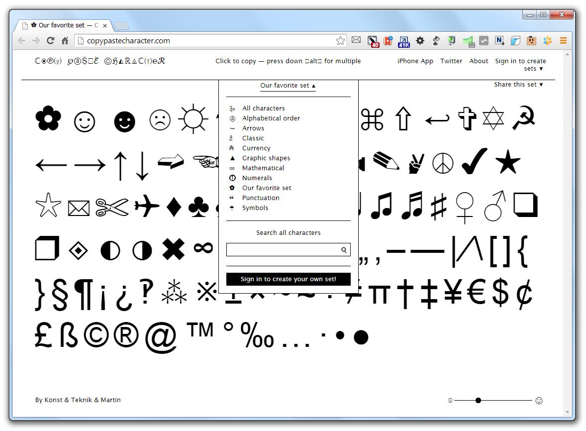 Символьные шрифты онлайн