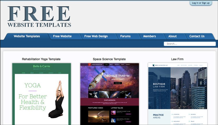 free_web_site_templates