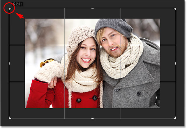 Adding extra space around the entire image while keeping the original aspect ratio. Image © 2016 Photoshop Essentials.com