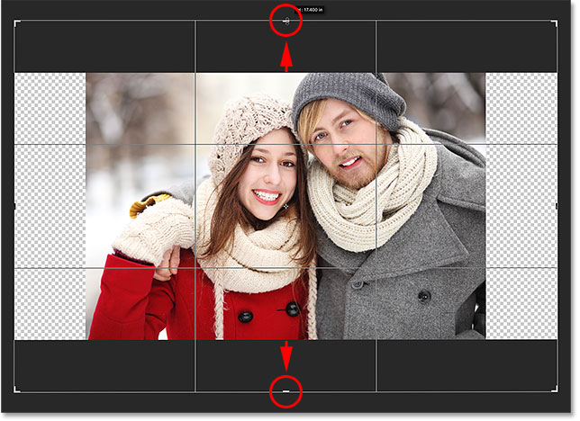 Adding extra space above and below the photo. Image © 2016 Photoshop Essentials.com