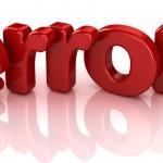 Что делать, если появились ссылки в статусе ERROR