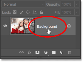 Unlocking the Background layer in Photoshop CS6. Image © 2016 Photoshop Essentials.com